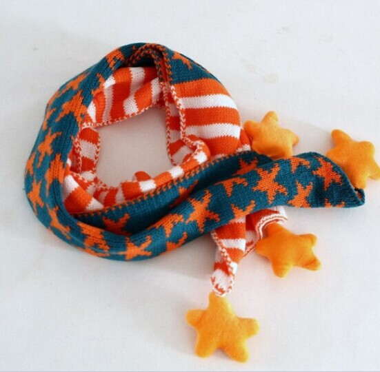 Cute Knitted Star Pattern Children Scarves Online