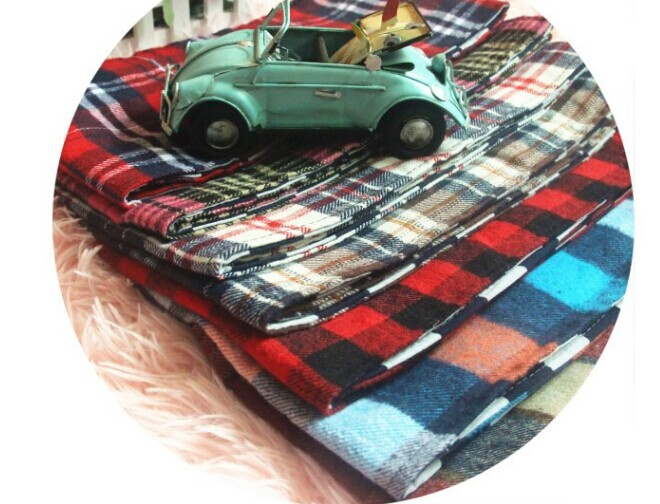 Fashion Tartan Knitted Kids Scarves Wholesale