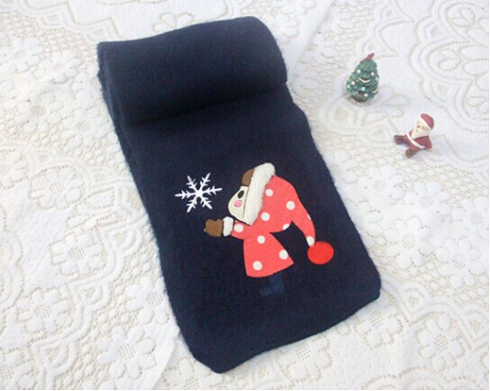 Kawaii Knitted Childrens Scarves for Baby Girls