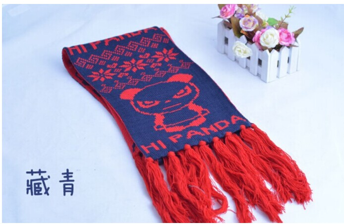 Colorful Panda Crocheted Kids Scarves Online