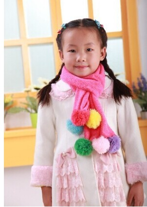 Solid Color Knitted Scarf for Children Wholesale