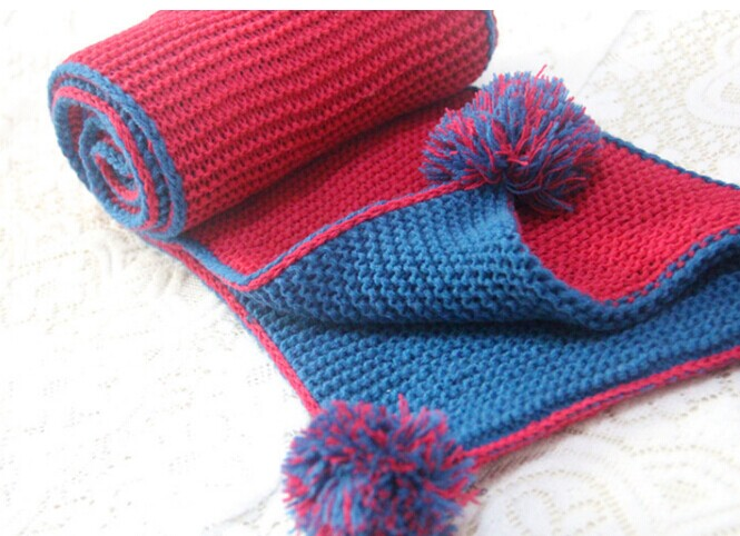 Fashion Two Colors Knitted Kids Scarf Canada