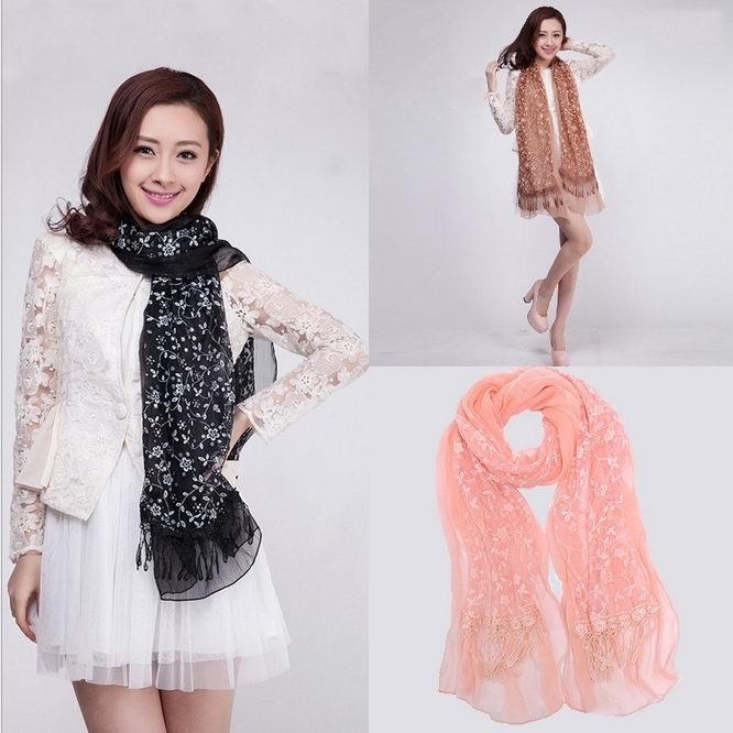Fashion Lace Scarf/Wrap Wholesale