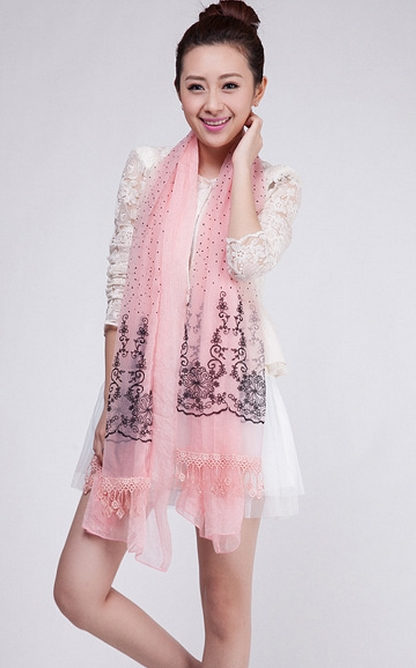 New Trendy Lace Scarf/Wrap Wholesale - Click Image to Close