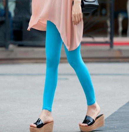Cheap Solid Color Knit Leggings for Women Online
