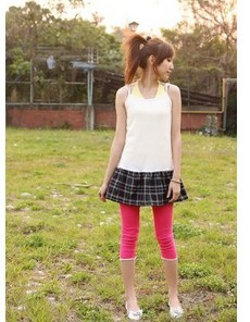 Cute Laciness Cropped Girls Tights Outfit Online