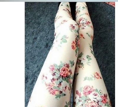 New Design Peony Floral Girls Leggings Outfits