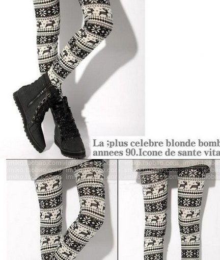 Funky Knit Tribal Christmas Girls Tights Wholesale