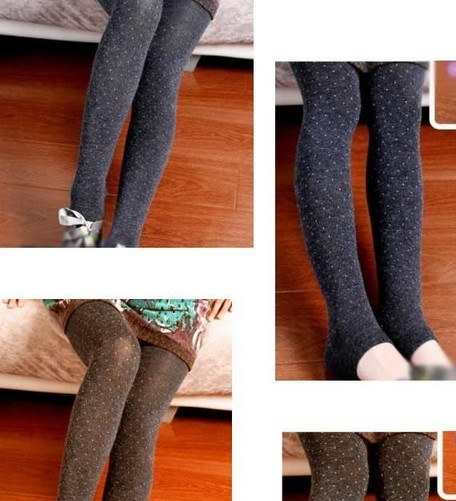 Cute Wool Glitter Tights for Girsl Cheap Wholesale