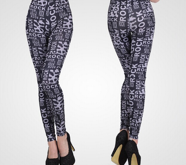 Full Printed Black Leggings for Women Wholesale