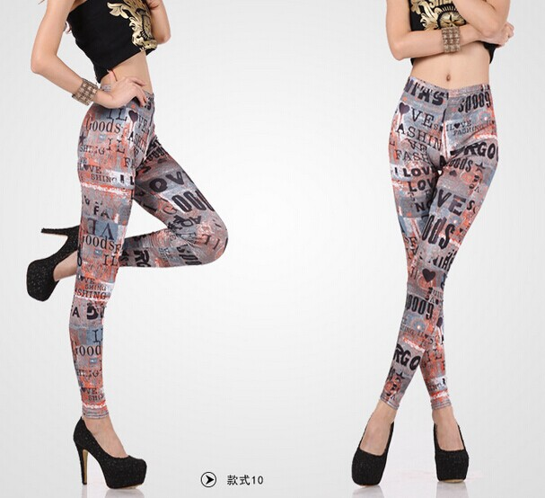 Popular Style Tie Dye Spandex Leggings Online - Click Image to Close