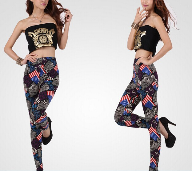Cute US Flags Printed Tights for Ladies Online