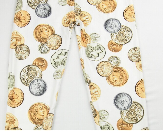 Ancient Rome Coins Patterned Leggings Online