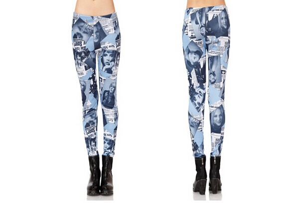 Winter Fleece Lined Fashion Print Leggings Online