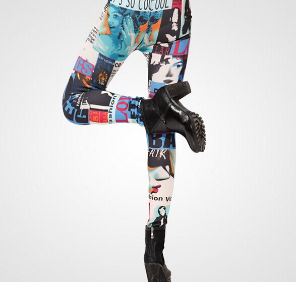 Funky Thermo Knitted Tie Dye Leggings for Women