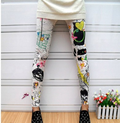 Beautiful design printing leggings for girl wholesale