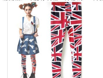 UK flag imprint leggings wholesale