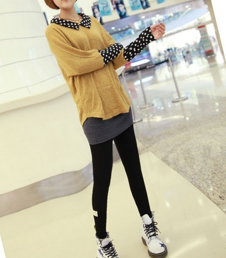 Plain style winter legging wholesale