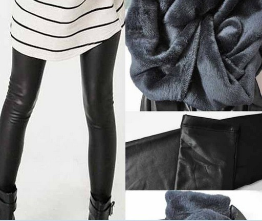 Winter thcik black shiny leggings wholesale