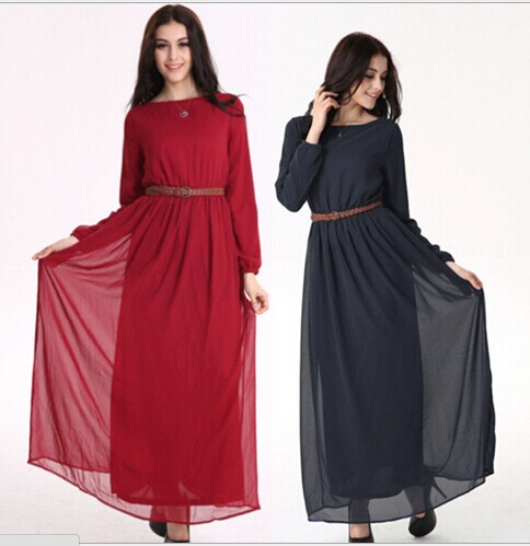 Female Islamic dress Summer Chiffon Muslim