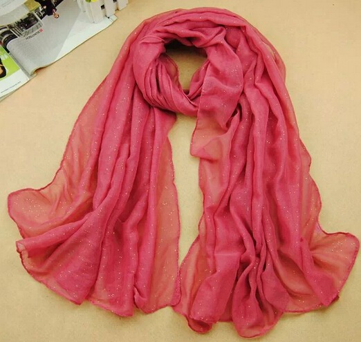 Shinning Plain Solid Colors Viscose Scarf For Muslims