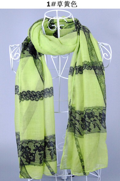 SEO_COMMON_KEYWORDS Lace Look Collage Viscose Scarf