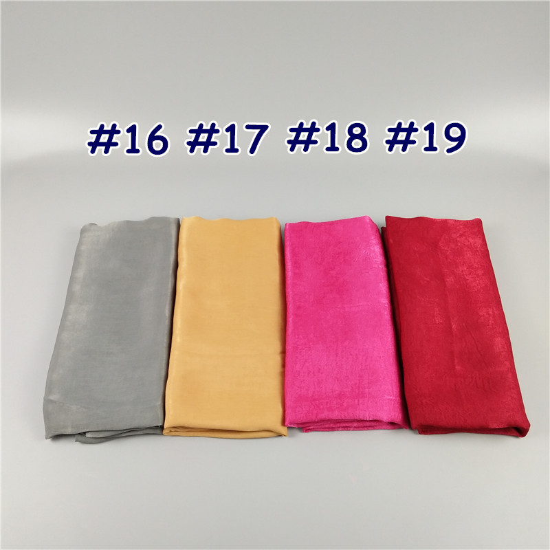 1 2017 Plain big size silk muslim long scarf