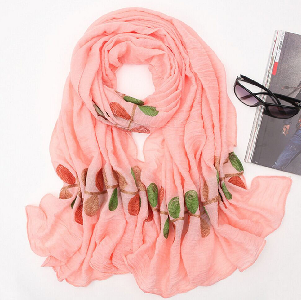 Pure Cotton embroidered Long Scarves