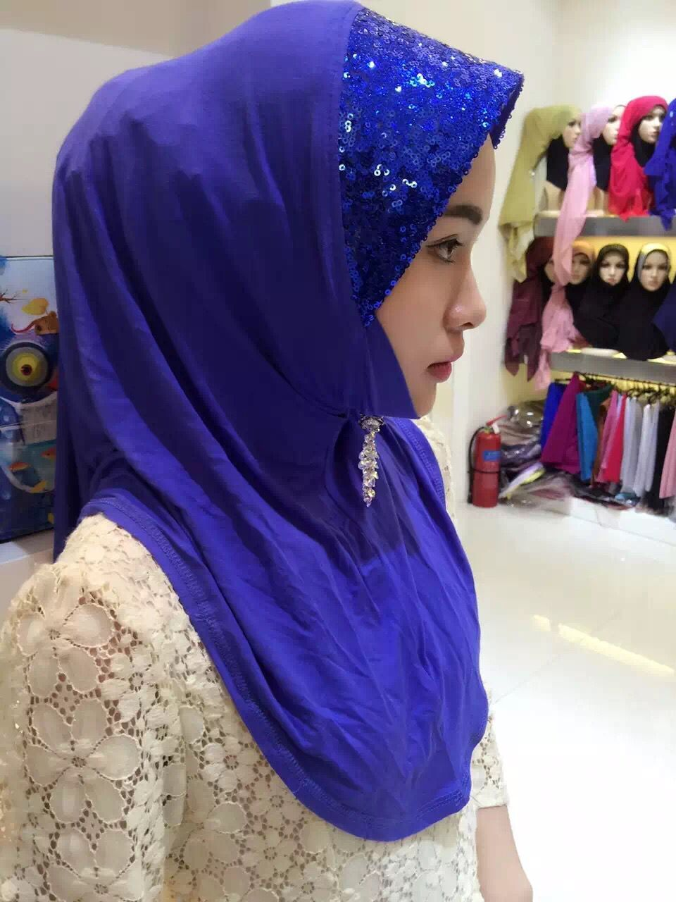 jersey hijab with sequins
