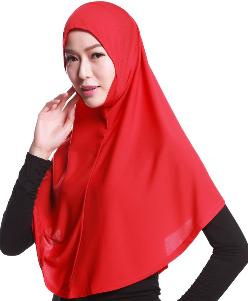 latest big size plain muslim hijab