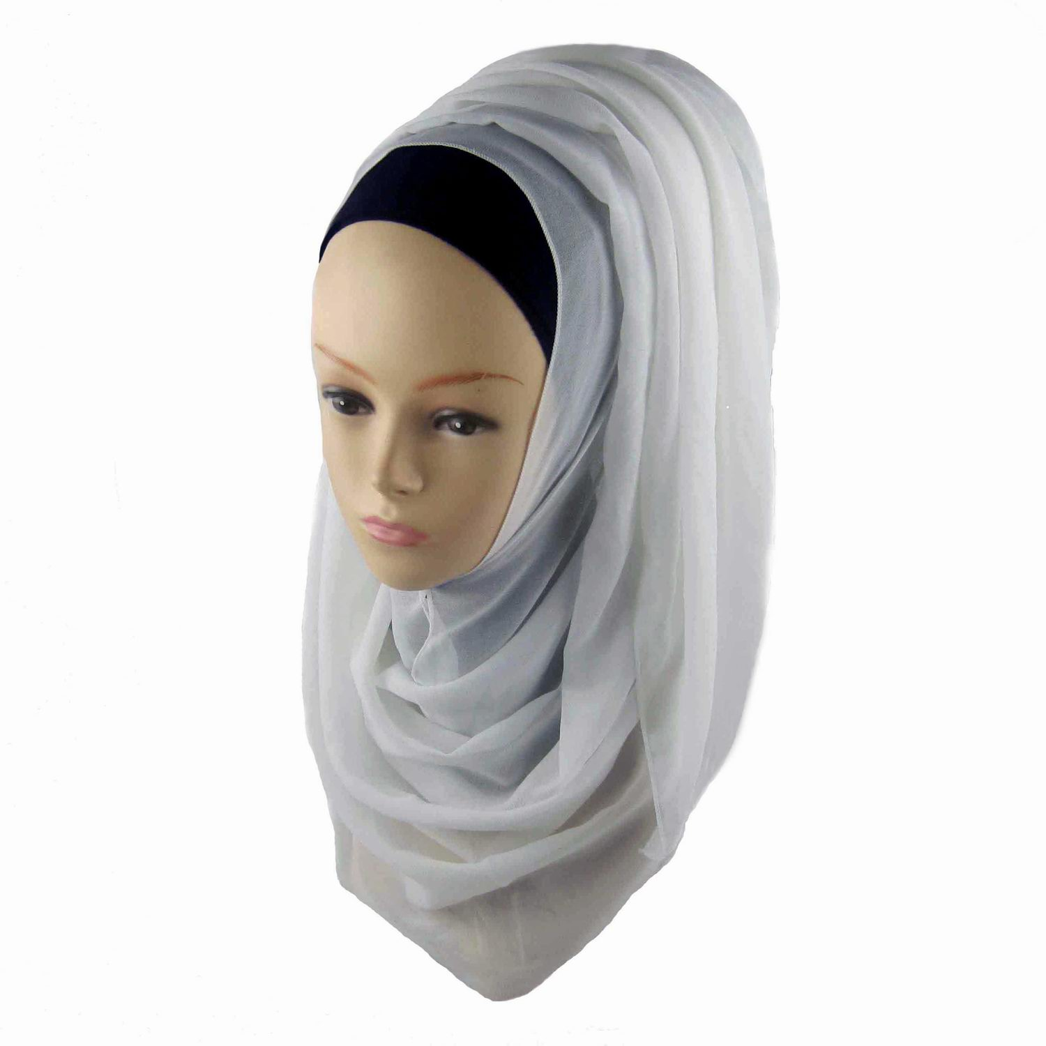 Plain Chiffon Hijab - Click Image to Close