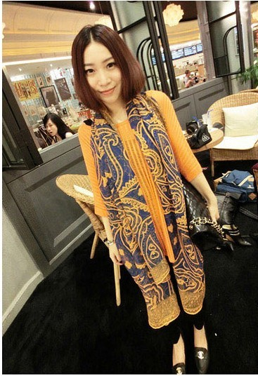 SEO_COMMON_KEYWORDS USA Long Women shawl with geometrical pattern printing! 2013 spr