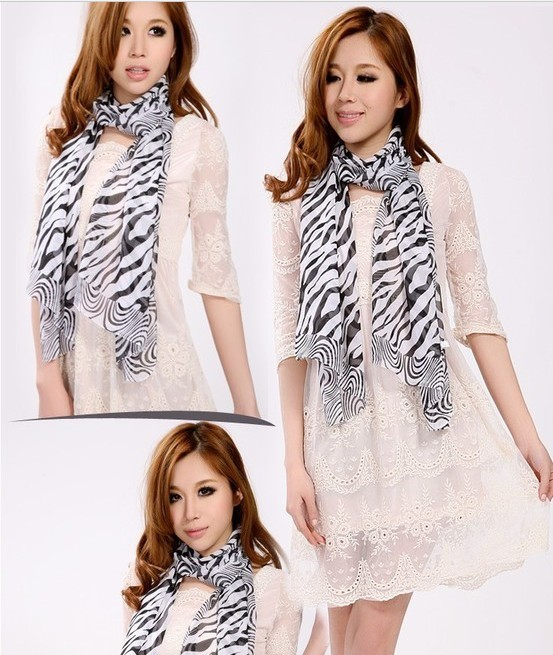 2013 USA Zebra fashion scarf long shawl