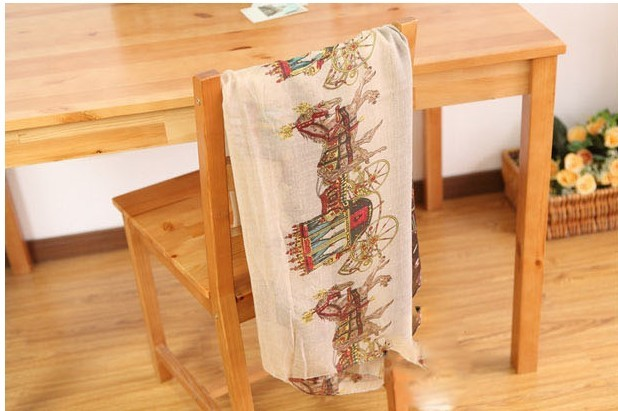 New style Patchwork Carriage print silk scarf for 2013 spring