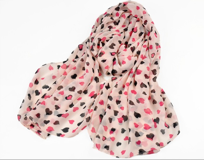 2013 Sweet Cute Heart Scarf Long Chiffon Scarf