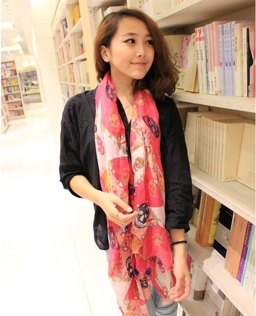 SEO_COMMON_KEYWORDS 2013 style of Chain Colorful Skull Scarf