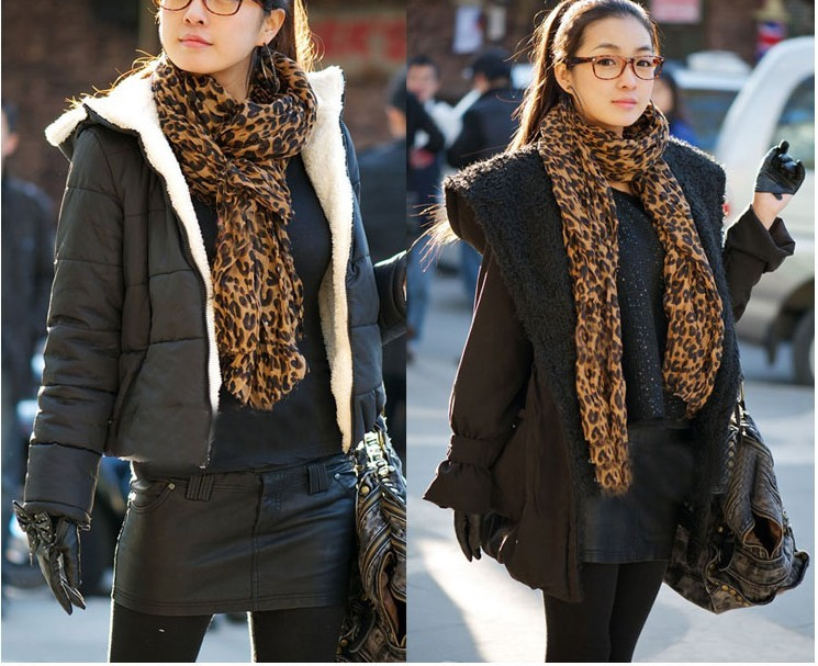 Woman sought after worldwide Leopard Scarf Wholesale USA