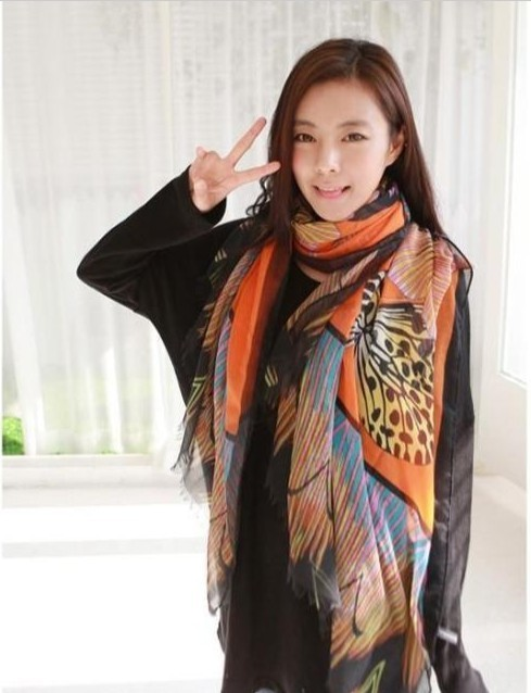 SEO_COMMON_KEYWORDS 2013 chiffon butterfly printing scarf wholesale