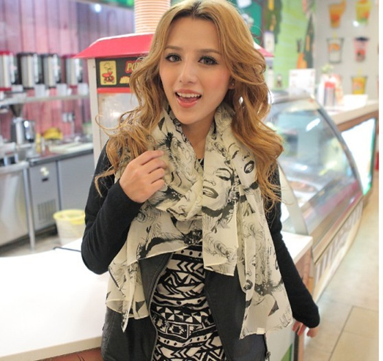 2013 new style woman silk chiffon scarf shawl