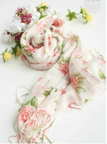 SEO_COMMON_KEYWORDS Spring flowers scarf autumn and winter female scarf