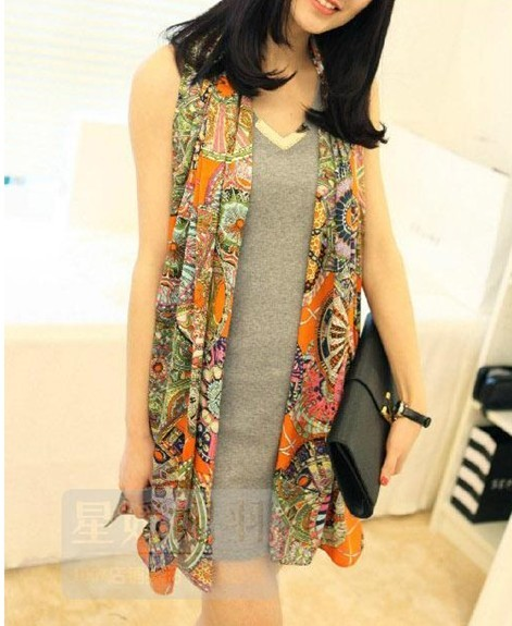 Tribal Bohemia Trendy Long Lady Voile Scarf
