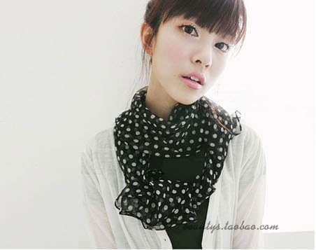 SEO_COMMON_KEYWORDS 2013 Spring Classic Polka Dot Scarf Long Chiffon Scarf