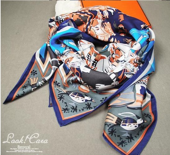 digital textile printing female silk scarf large facecloth cape