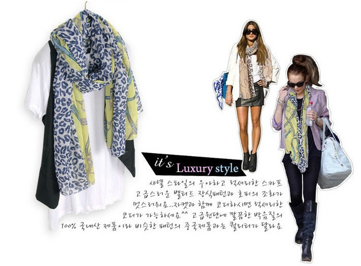 SEO_COMMON_KEYWORDS 2013 European style sexy leopard and chain printing chiffon silk
