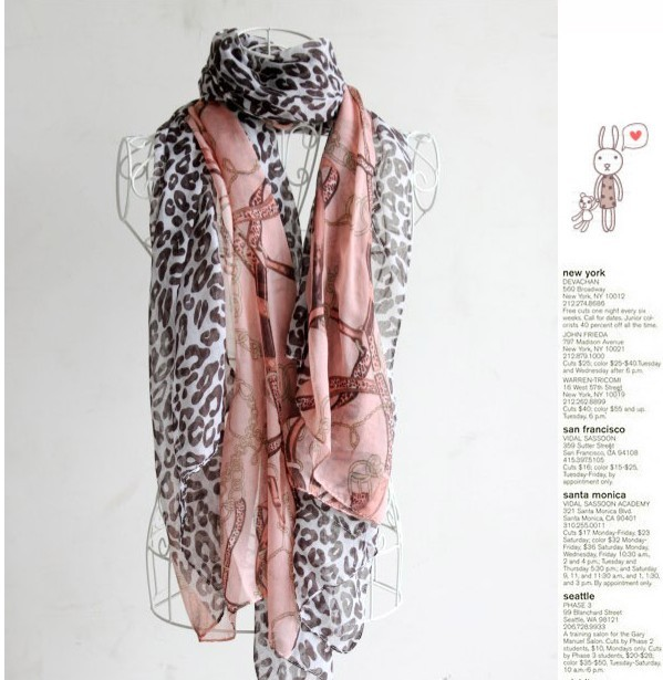 SEO_COMMON_KEYWORDS USA Long Women viscose scarves with leopard and chain printing f