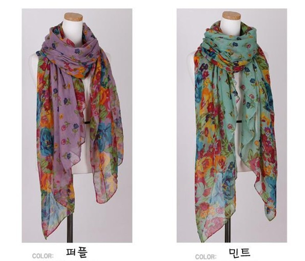 2013 Spring and Summer Wraps Shawl Stole Soft Scarve Flower