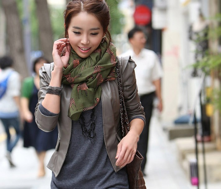 2013 fluid zebra print autumn and winter scarf for Women
