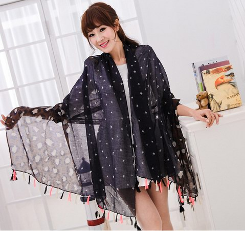 SEO_COMMON_KEYWORDS 1 New York Viscose Shawl with tassel
