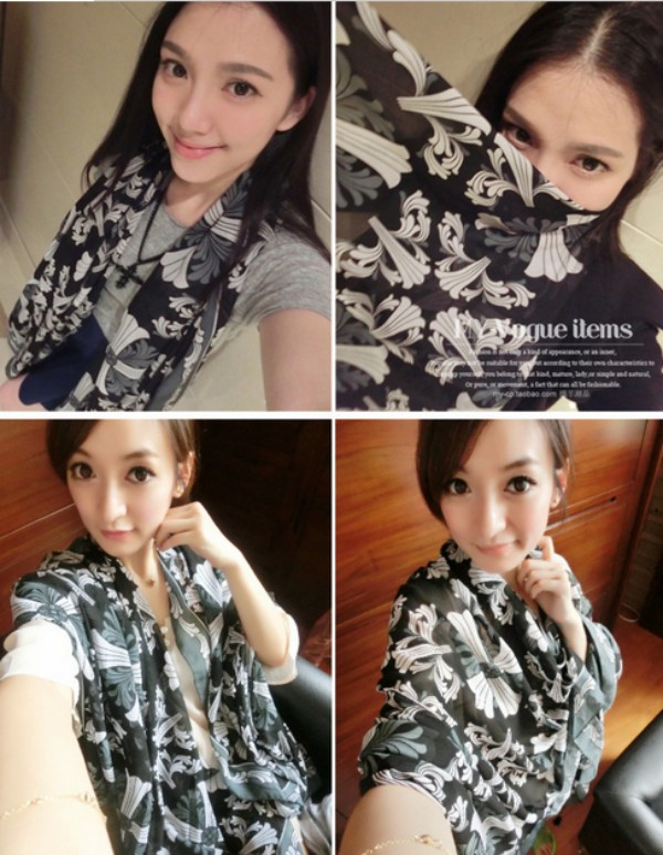 1 2014 New Fashion Viscose Cotton Scarf for Women