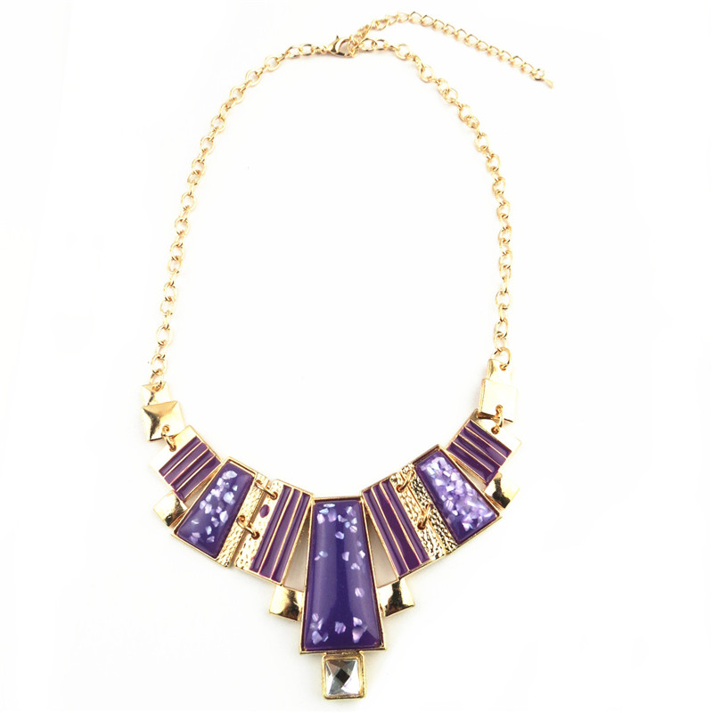 Purple Gemstone Pendants Cheap Necklace